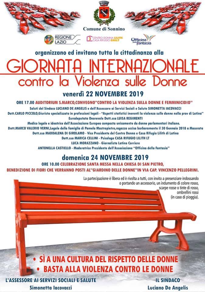 Sonnino: Giornata Internazionale contro la violenza sulle donne @ auditorium San Marco  | Sonnino | Lazio | Italia