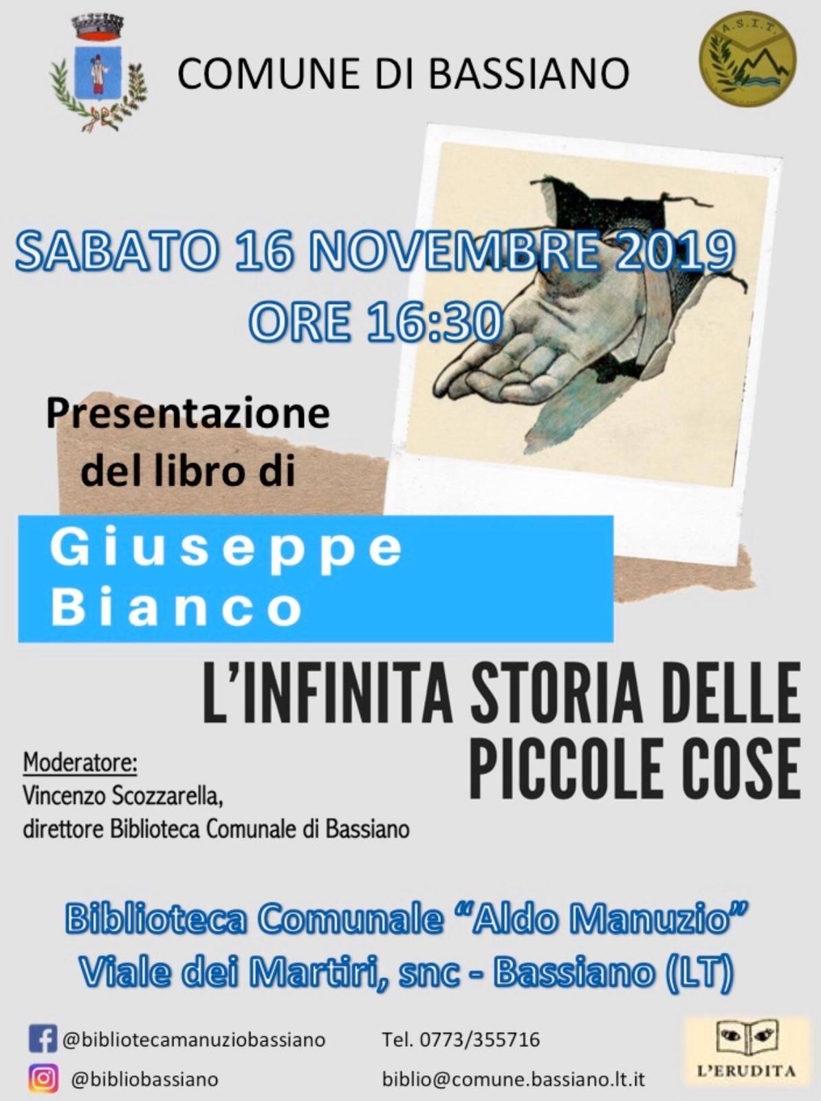 Bassiano: Presentazione libro @ Biblioteca comunale  | Bassiano | Lazio | Italia
