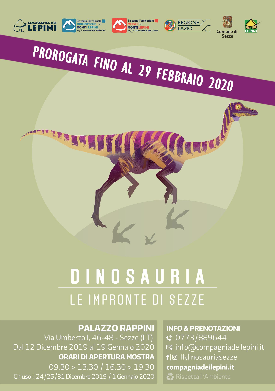 dinosauria-prorogata-al-29-feb-2020