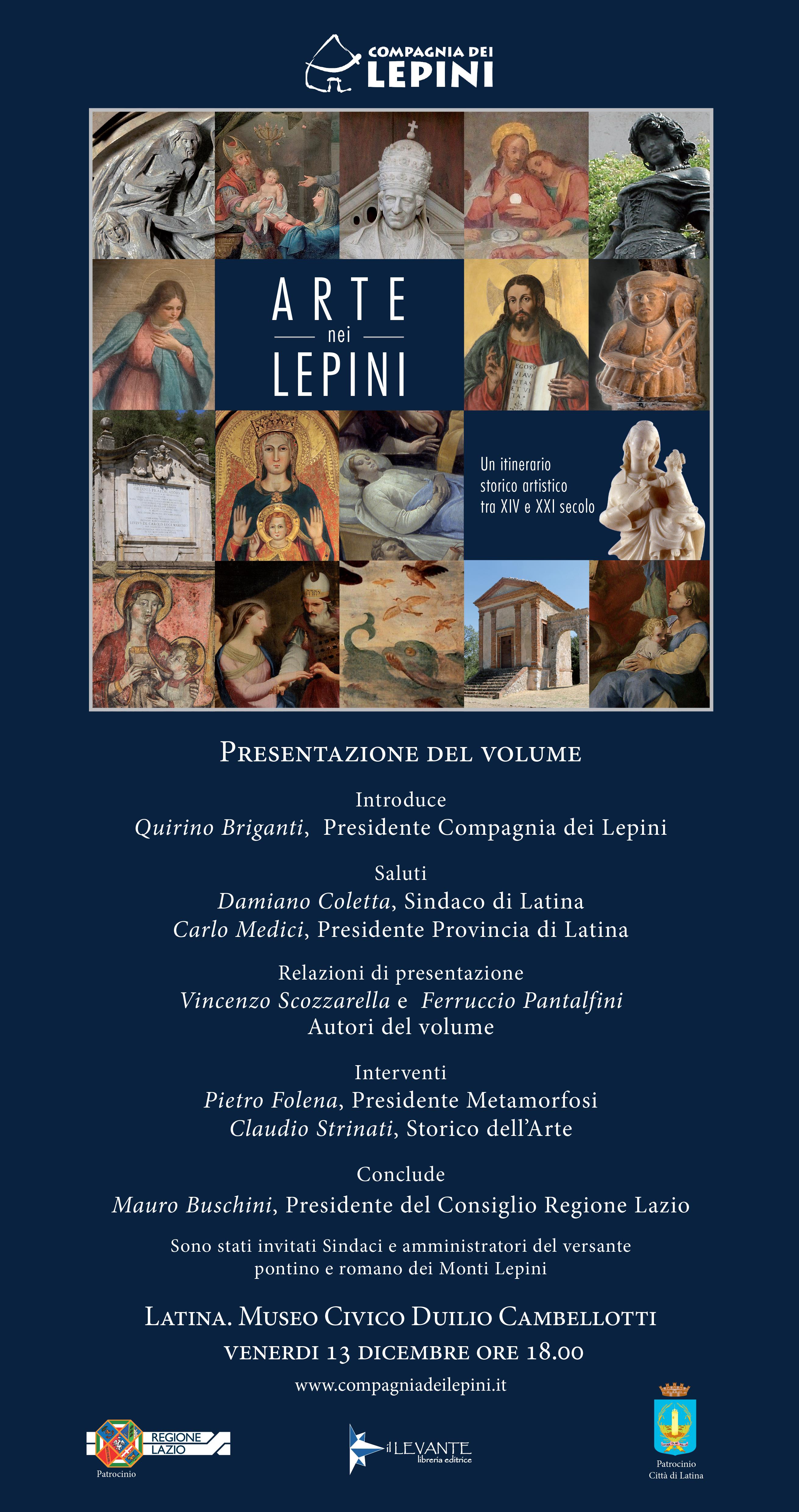 Presentazione del Volume: Arte nei Lepini @ Museo civico Duilio Cambellotti   Latina   Lazio   Italia