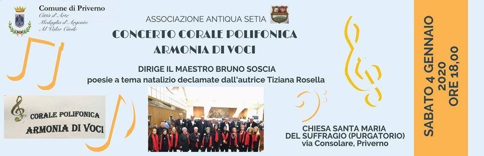 Priverno: Concerto corale polifonica armonia di voci @ Chiesa Santa Maria del Suffragio (purgatorio) | Priverno | Lazio | Italia