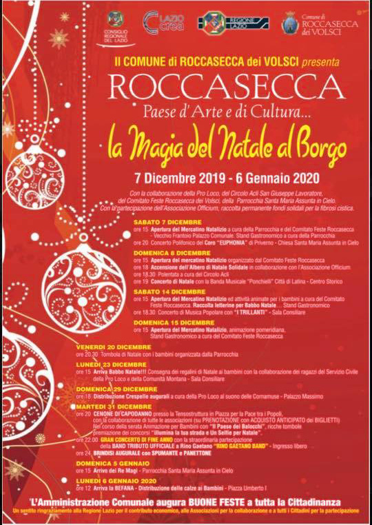 Roccasecca dei Volsci: La Magia del Natale al borgo @ Roccasecca dei Volsci | Lazio | Italia