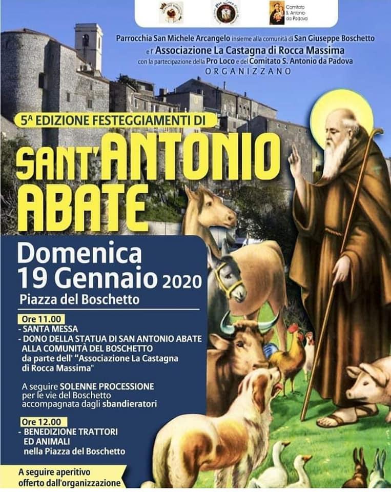 Roccamassima: Festa di Sant'Antonio Abate @ Roccamassima | Rocca Massima | Lazio | Italia