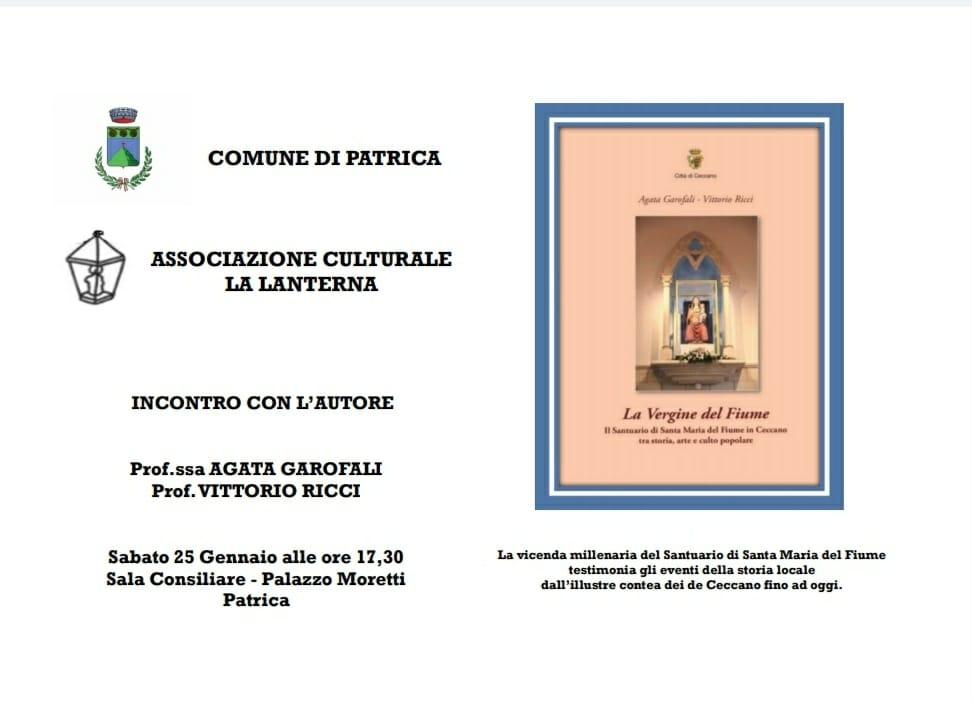 Patrica: Associazione Culturale la Lanterna, incontro con l'autore @ patrica | Patrica | Lazio | Italia