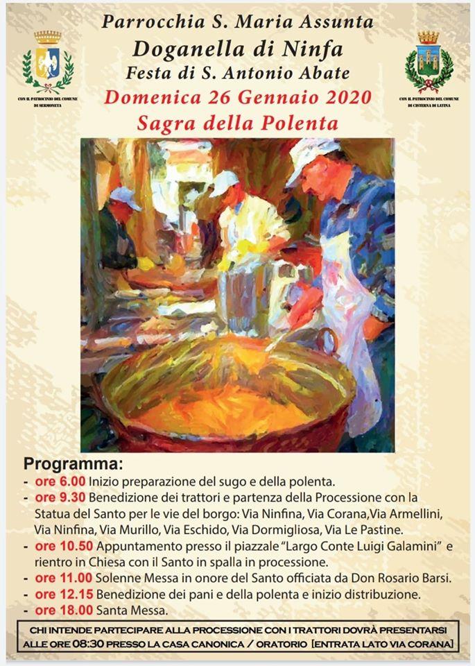 SERMONETA: SAGRA DELLA POLENTA A DOGANELLA @ Parrocchia S.Maria Assunta | Doganella di Ninfa | Lazio | Italia