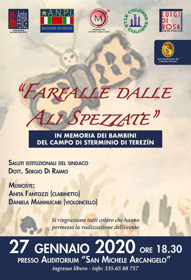 "Sezze: ""Farfalle dalle ali spezzate"" @ Auditorium San Michele Arcangelo | Sezze | Lazio | Italia"
