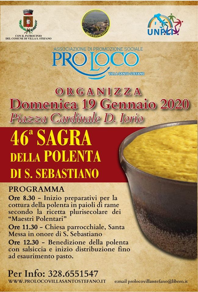 Villa Santo Stefano: Sagra della polenta di S. Sebastiano @ Piazza Cardinal D. Iorio | Villa Santo Stefano | Lazio | Italia