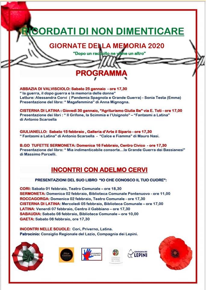 Giornate della Memoria @ Valvisciolo; Cori; Sermoneta ; Roccagorga | Lazio | Italia