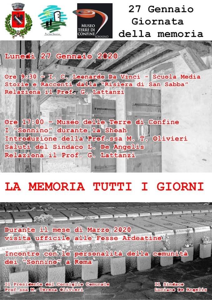 SONNINO: LA MEMORIA TUTTI I GIORNI @ I.C. Leonardo Da Vinci / Museo Delle Terre di Confine | Sonnino | Lazio | Italia