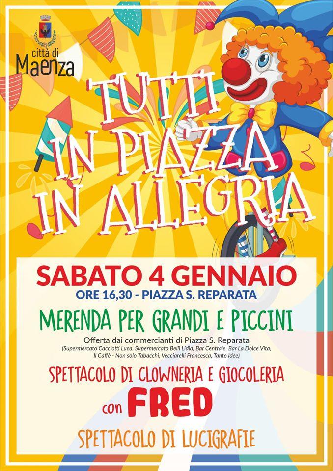 Maenza: Tutti in piazza in allegria @ Piazza S. Reparata | Maenza | Lazio | Italia