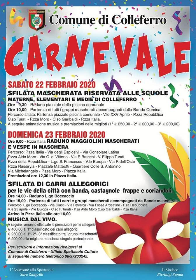 Colleferro: Carnevale 2020 @ Colleferro | Lazio | Italia