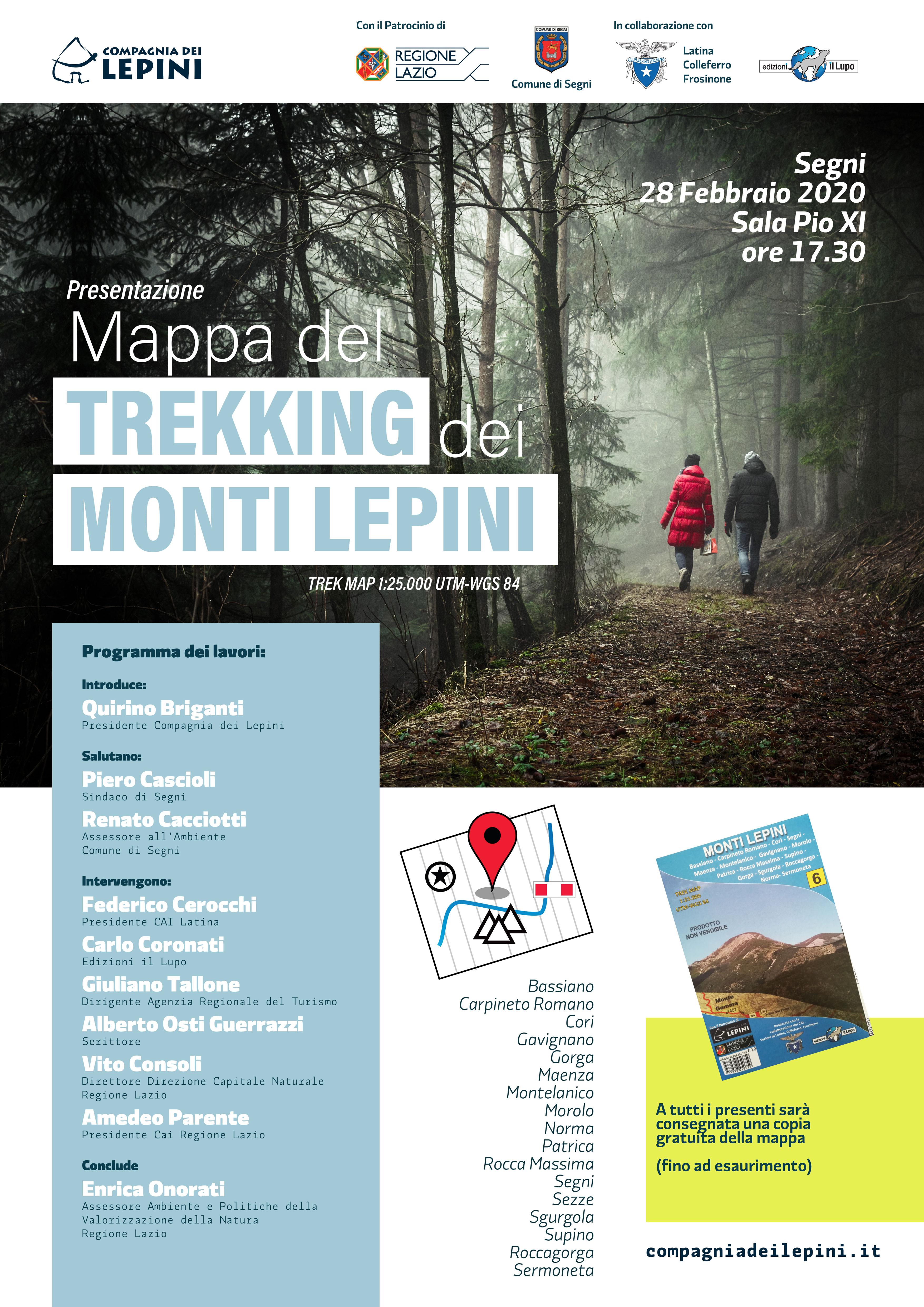 Segni: Presentazione Mappa del Trekking dei Monti Lepini @ Sala Pio XI | Lazio | Italia
