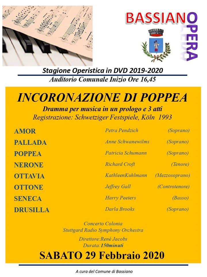 Bassiano: Incoronazione di Poppea @ Bassiano: Auditorium comunale | Bassiano | Lazio | Italia