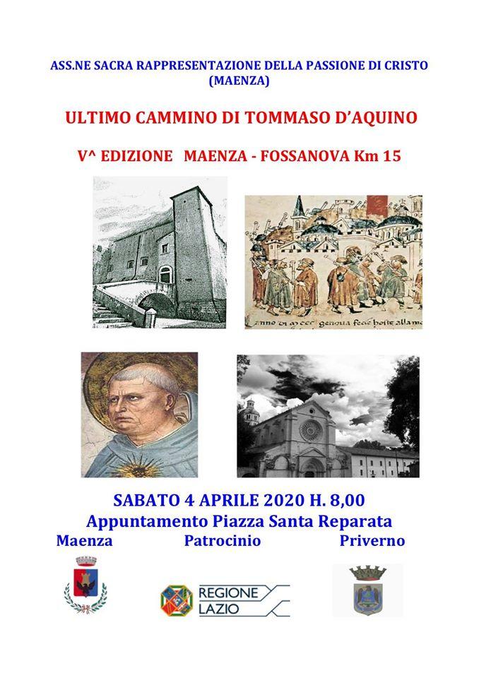 Maenza: Ultimo cammino di S. Tommaso d'Aquino @ Maenza | Lazio | Italia