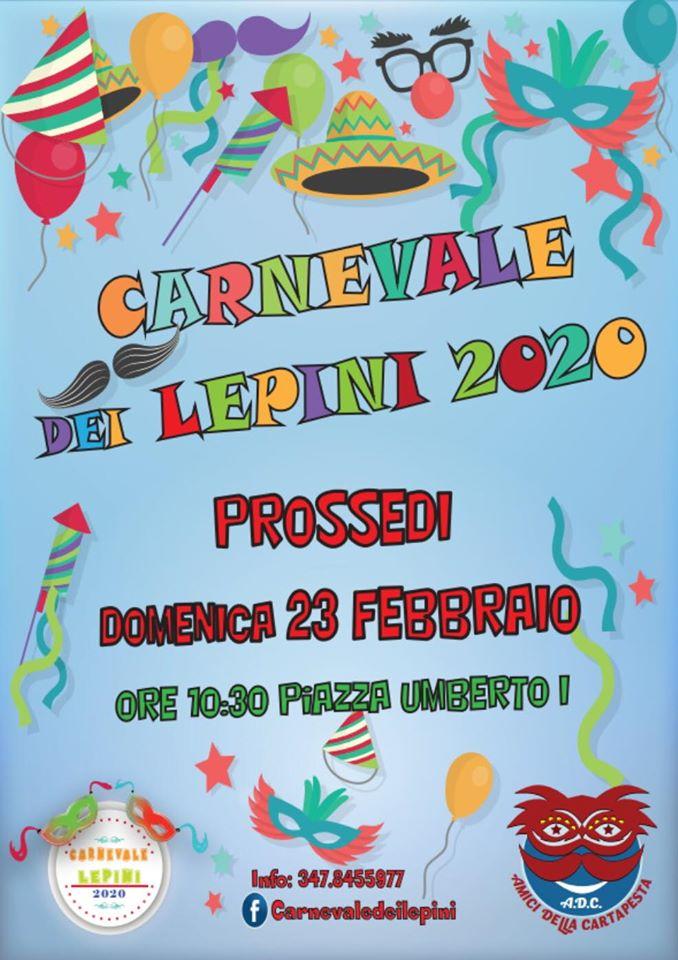 PROSSEDI: CARNEVALE DEI LEPINI 2020 @ Prossedi | Lazio | Italia