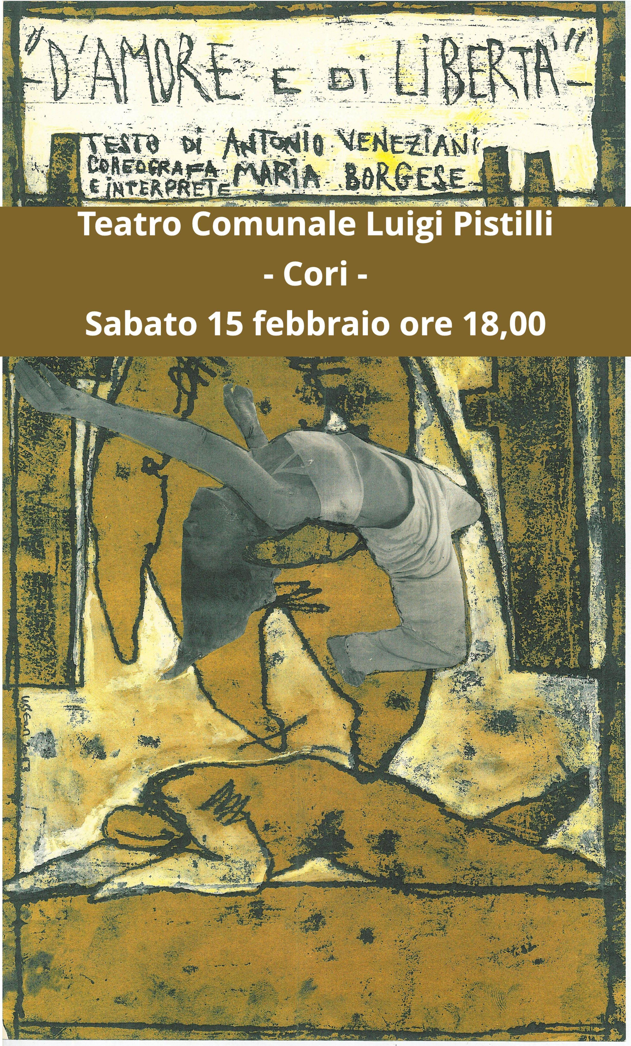 Cori: D'amore e di libertà @ teatro comunale Luigi Pistilli | Cori | Lazio | Italia