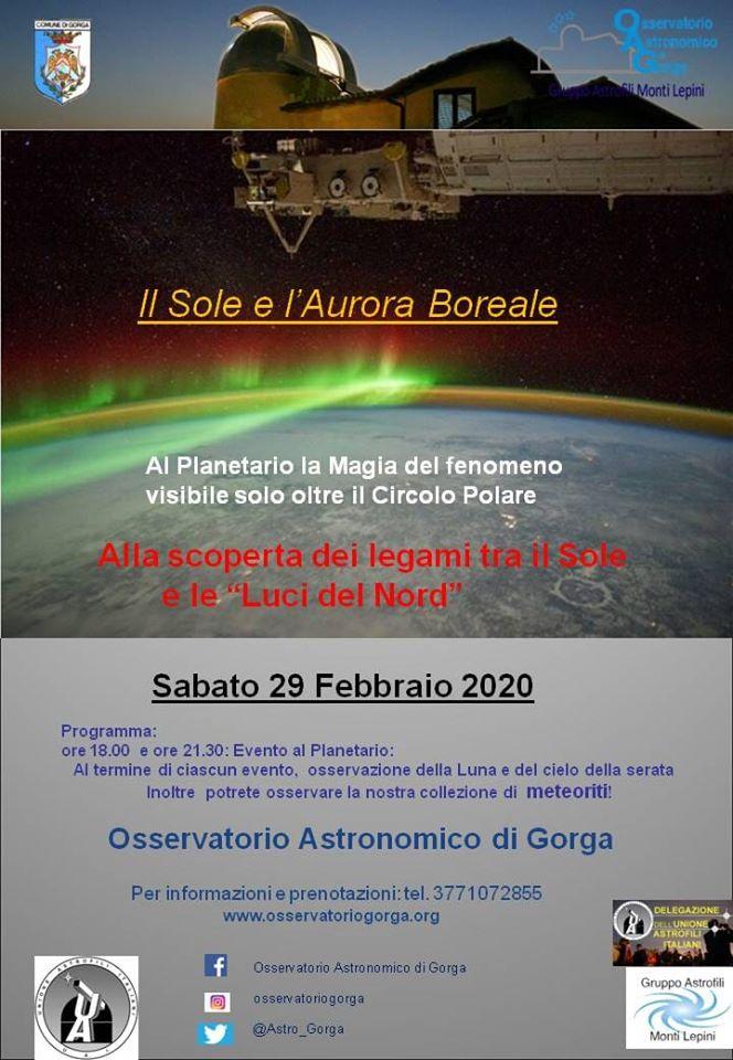 Gorga: Il sole e l'aurora boreale @  Osservatorio astronomico di Gorga | Lazio | Italia