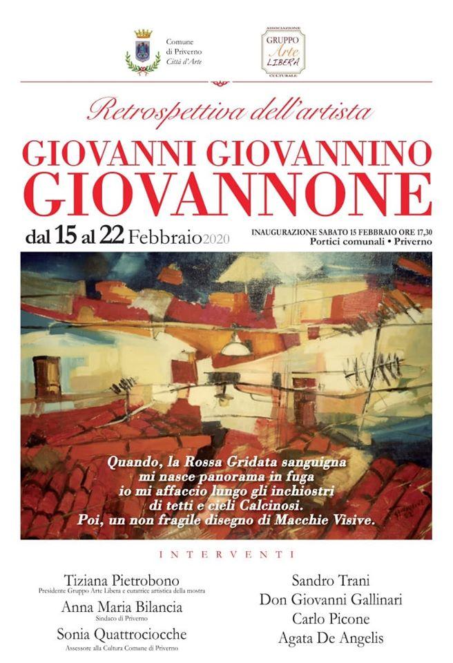 Priverno: Retrospettiva dell'artista Giovanni Giovannino Giovannone @ Priverno-Portici Comunali  | Priverno | Lazio | Italia