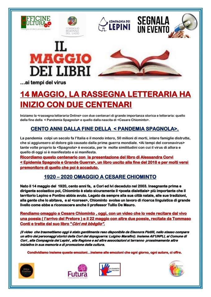 """""""IL MAGGIO DEI LIBRI…AI TEMPI DEL VIRUS"""". 14 maggio 2020 @ Monti Lepini"""