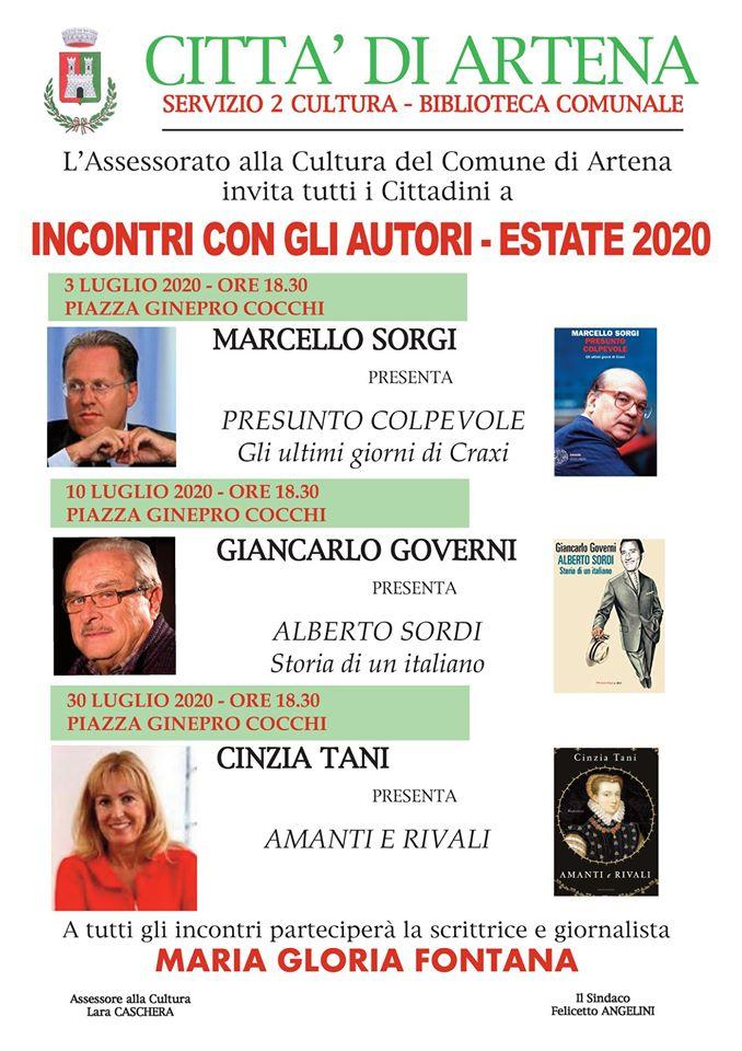 Artena: Incontri con gli autori . Estate 2020 @ Biblioteca Comunale