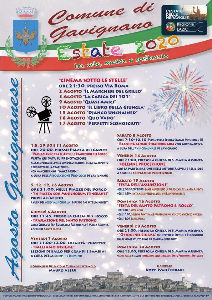 gavignano-estate-2020-programma
