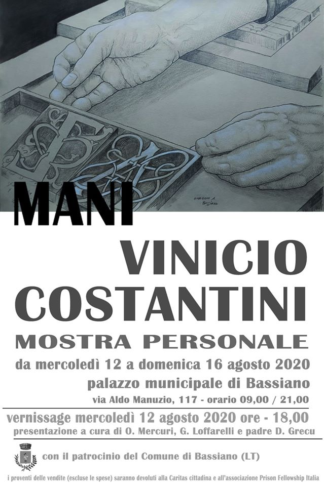 BASSIANO: MANI VINICIO COSTANTINI @ PALAZZO MUNICIPALE DI BASSIANO