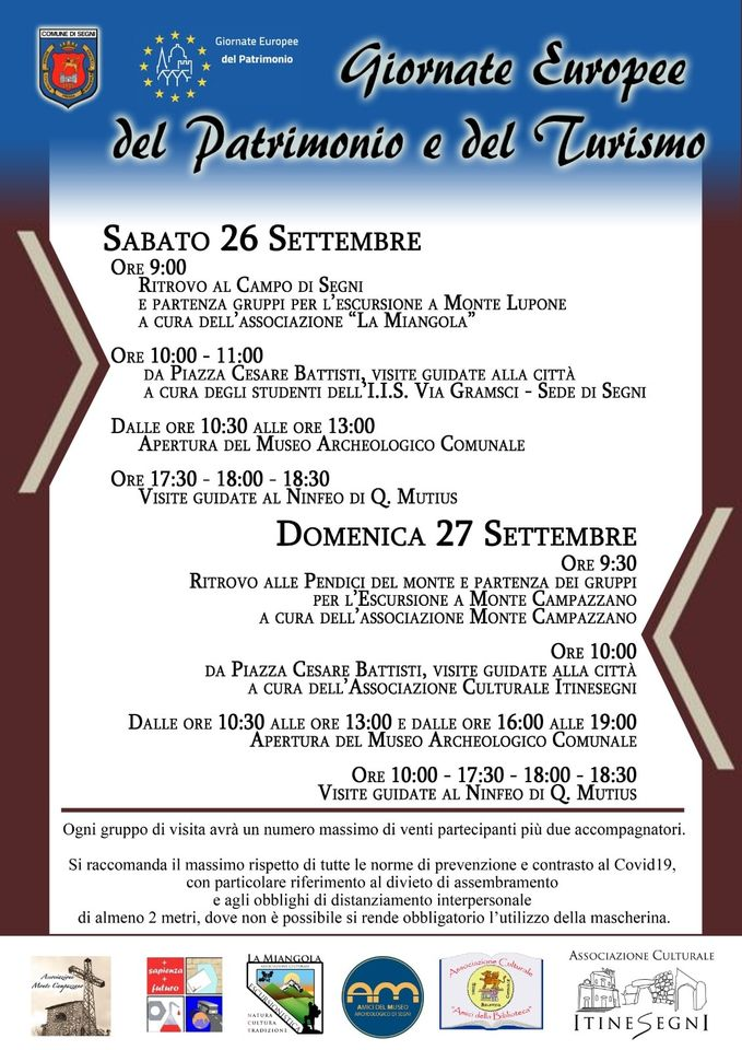 SEGNI: Giornate Europee del Patrimonio e del Turismo @ SEGNI