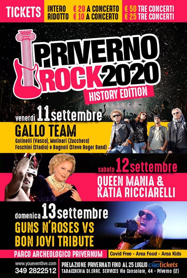 PRIVERNO ROCK2020 @ Parco Archeologico Privernum
