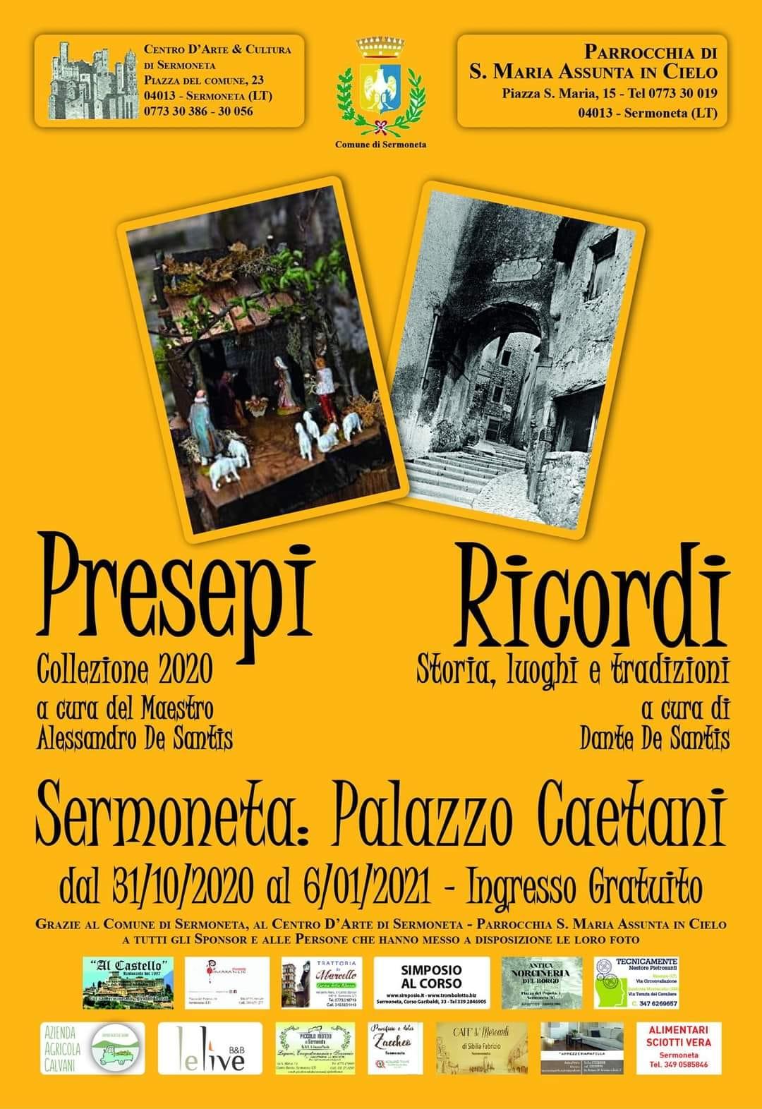 SERMONETA: PRESEPI RICORDI @ Sermoneta: Palazzo Caetani