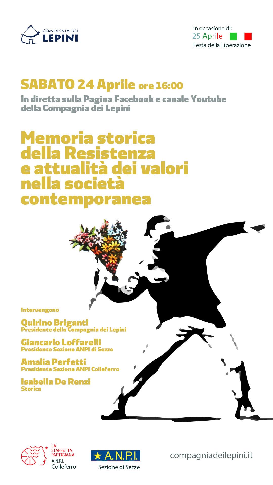 25 aprile 2021: Memoria storica della Resistenza e attualità dei valori nella società contemporanea @ Evento Online