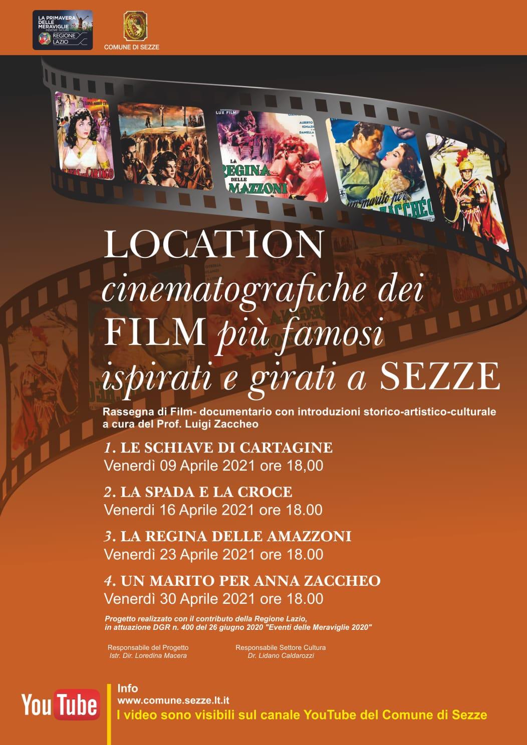 Sezze: Location cinematografiche dei film più famosi ispirati e girati a Sezze