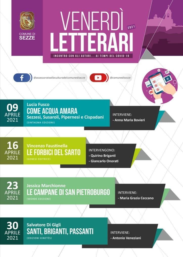 Sezze: Venerdì Letterari 2021 @ OnLine