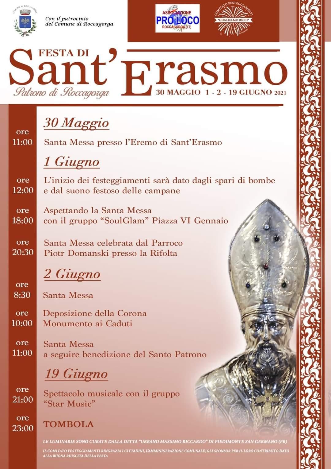 Roccagorga - Festa di Sant' Erasmo 2021 @ Roccagorga