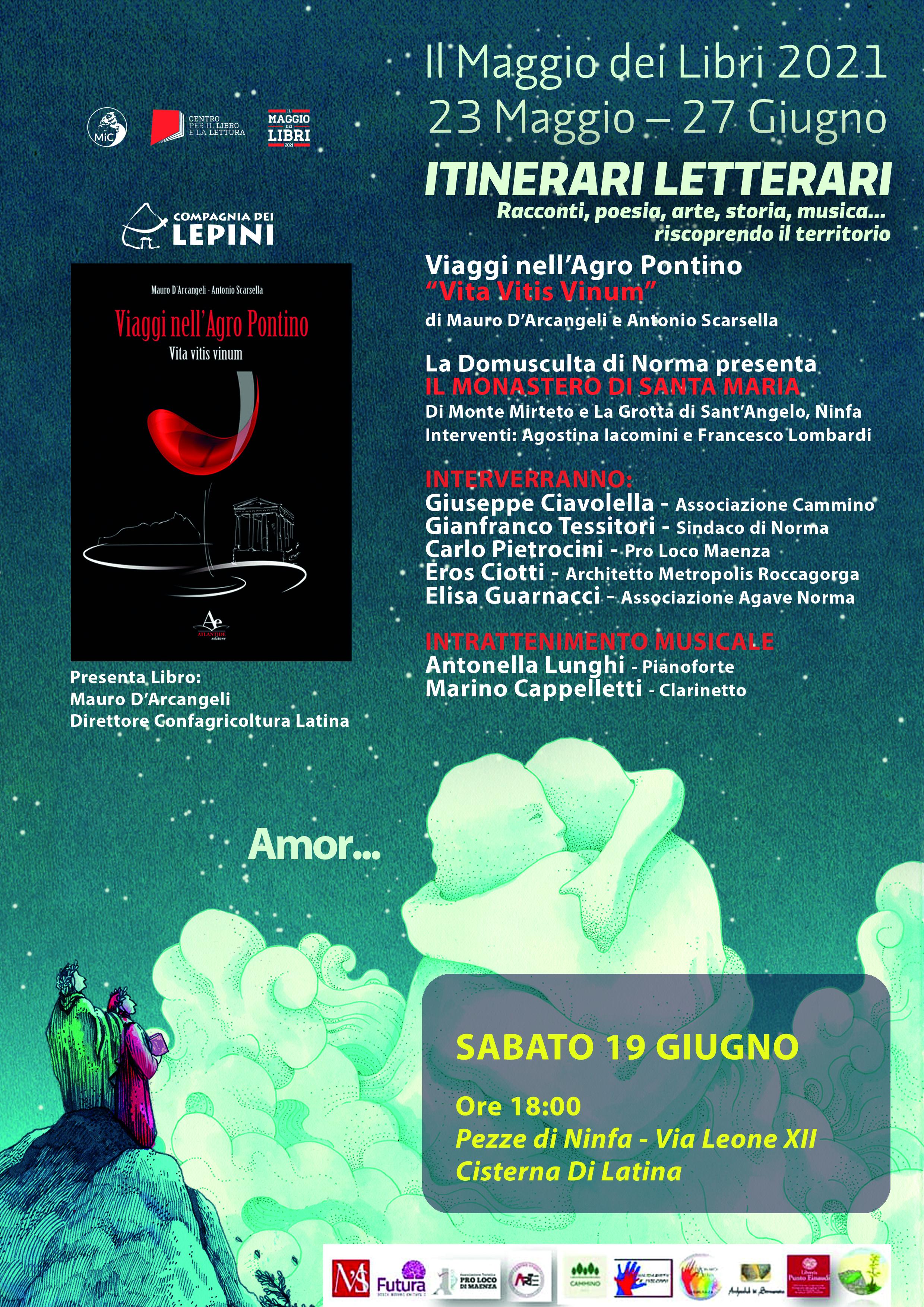Il Maggio dei Libri 2021 - Itinerari letterari: racconti, poesia, arte, storia, musica... riscoprendo il territorio @ Cisterna di Latina