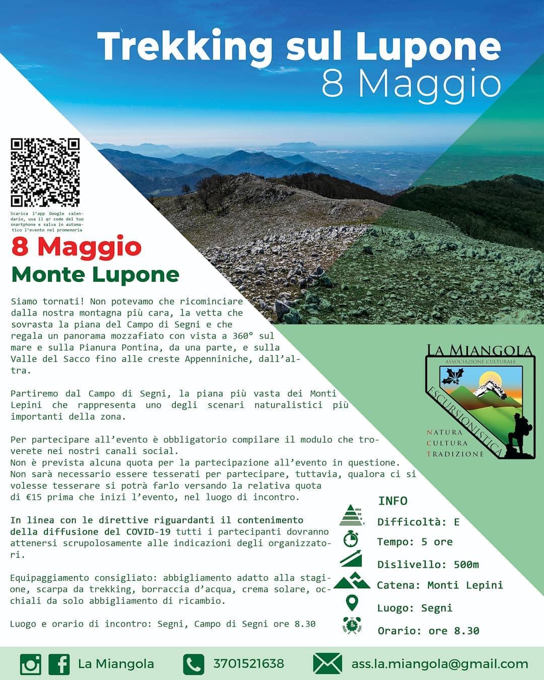 Trekking: Monte Lupone @ Campo di Segni / Monte Lupone