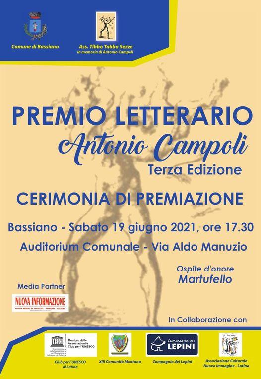 Cerimonia di Premiazione: Premio Letterario Antonio Campoli - edizione 2021 @ Bassiano