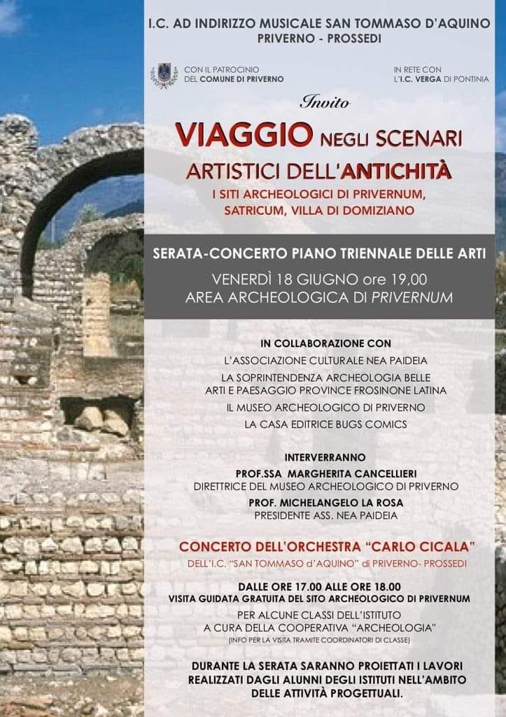 Priverno: Viaggio negli scenari artistici dell'antichità - Parco Archeologico Privernum @ Parco Archeologico Privernum