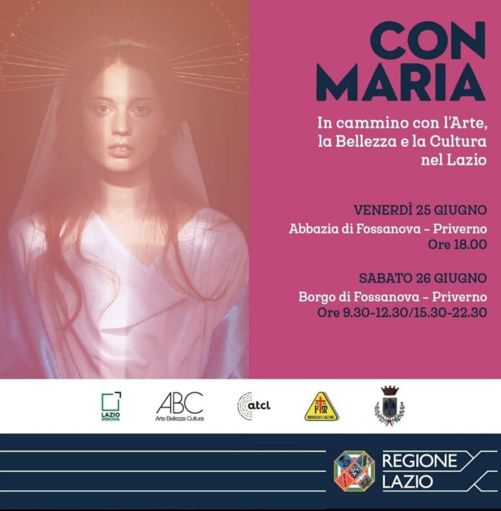 Priverno: Con Maria - in cammino con l'Arte, la Bellezza e la Cultura nel Lazio @ Abbazia di Fossanova - Priverno