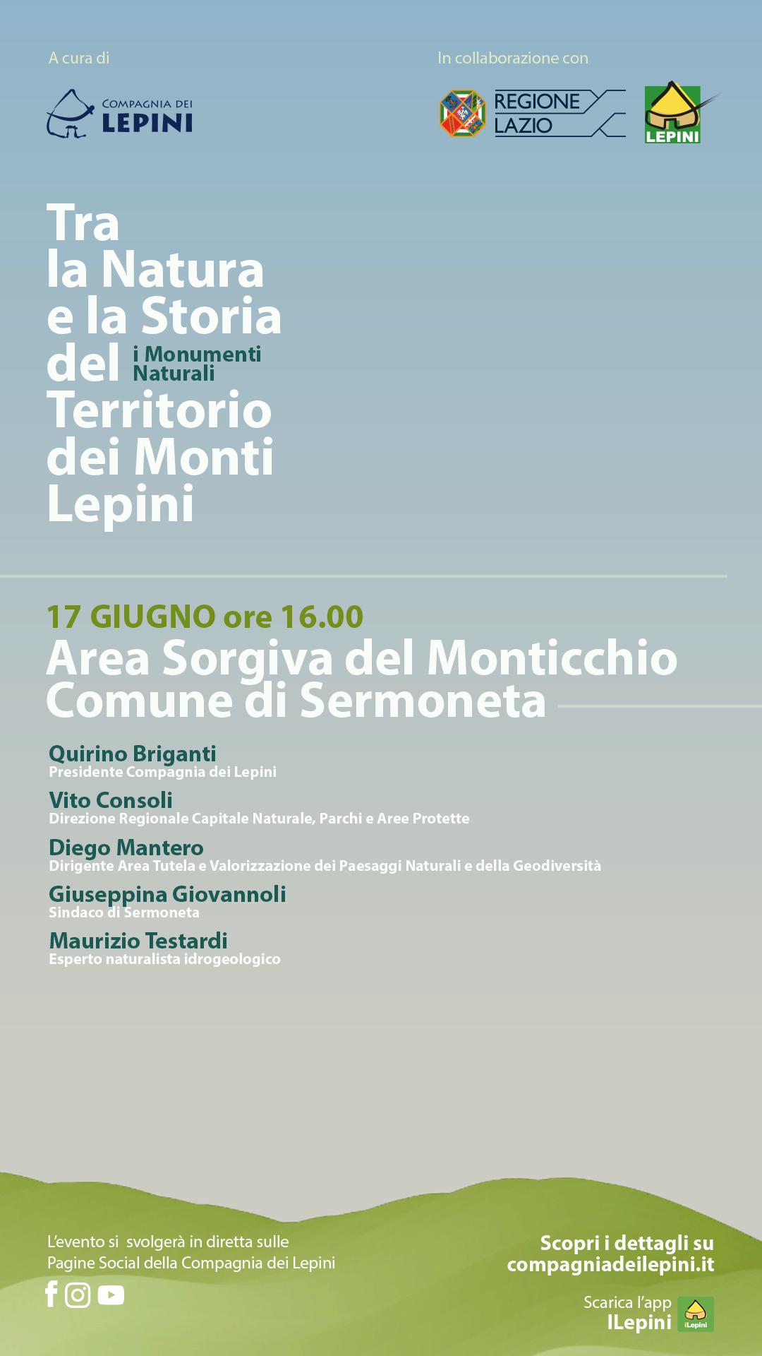 Tra la Natura e la Storia del territorio dei Monti Lepini: Monumento Naturale di Monticchio @ Evento Online