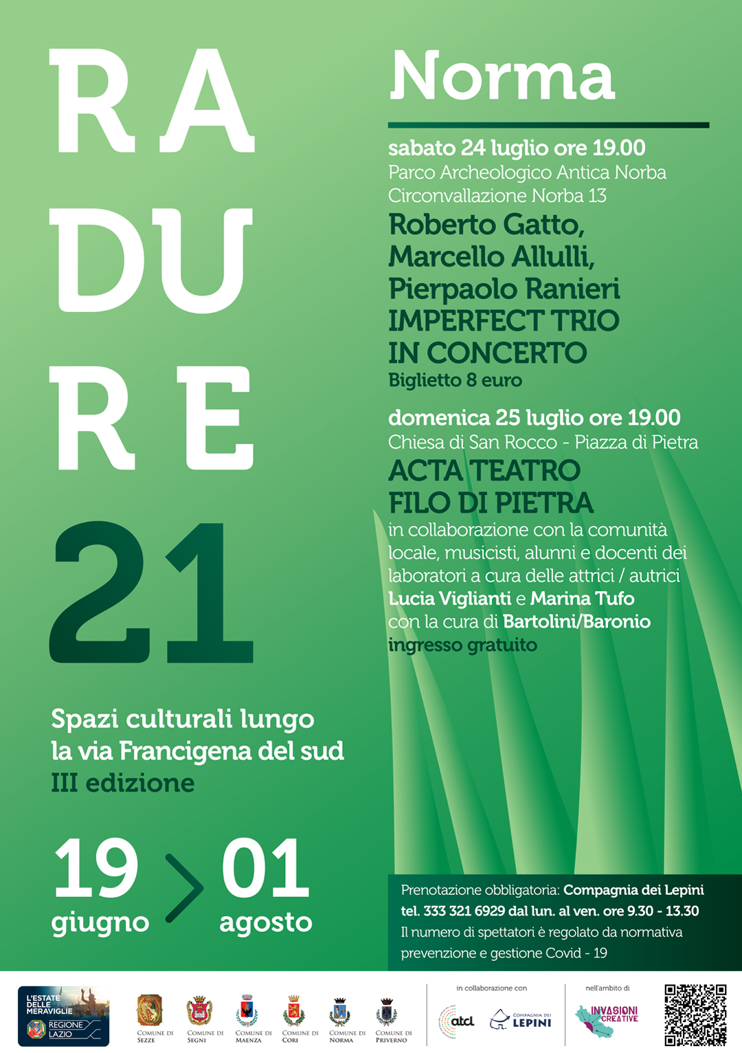 Radure 2021 Norma: Imperfect Trio in concerto @ Norma, Parco Archeologico Antica Norba