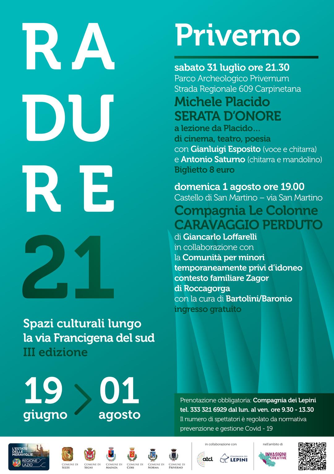 Radure 2021 Priverno: Caravaggio perduto @ Castello di San Martino