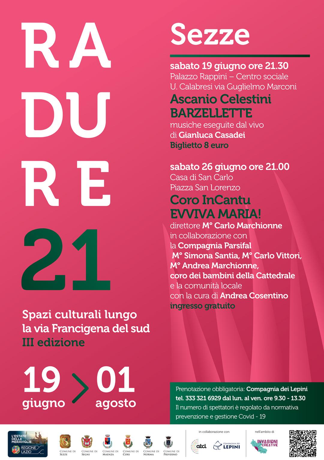 Radure 2021 Sezze: Evviva Maria! @ Casa di San Carlo – piazza San Lorenzo