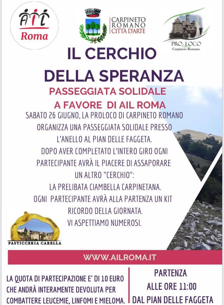 Carpineto Romano: Il Cerchio Della Speranza @ Carpineto Romano