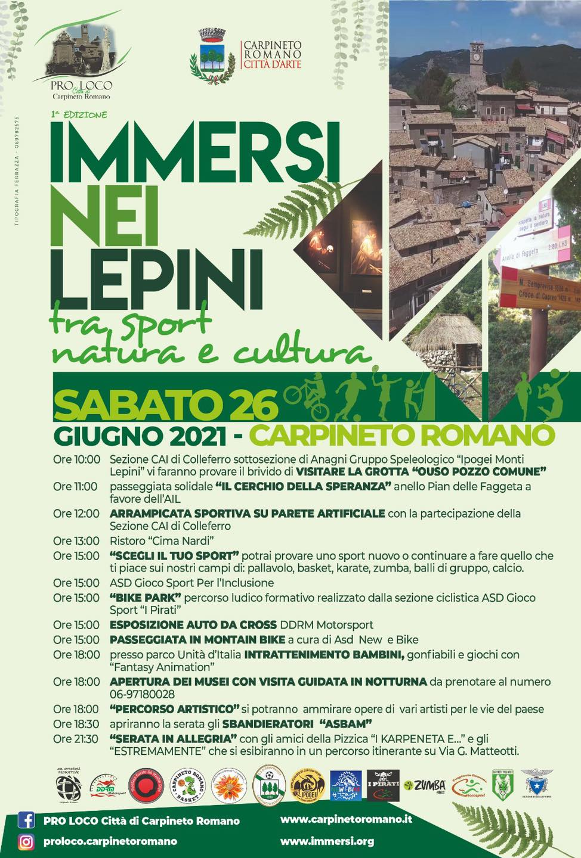 CARPINETO: Immersi nei Lepini – Tra sport, natura e cultura @ Carpineto Romano