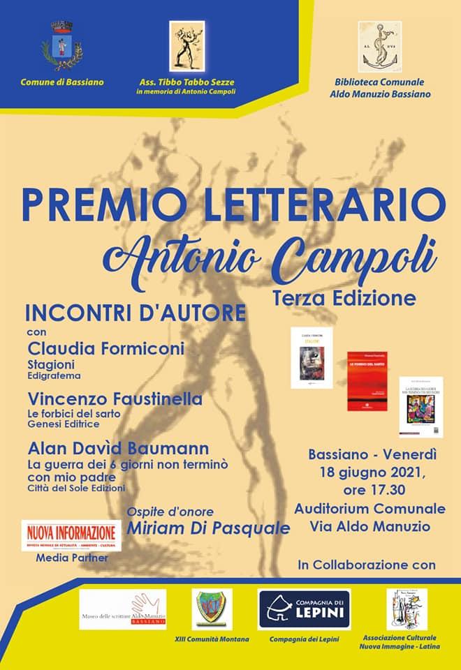 Cerimonia di Premiazione: Premio Letterario Antonio Campoli - edizione 2021- Bassiano @ Bassiano