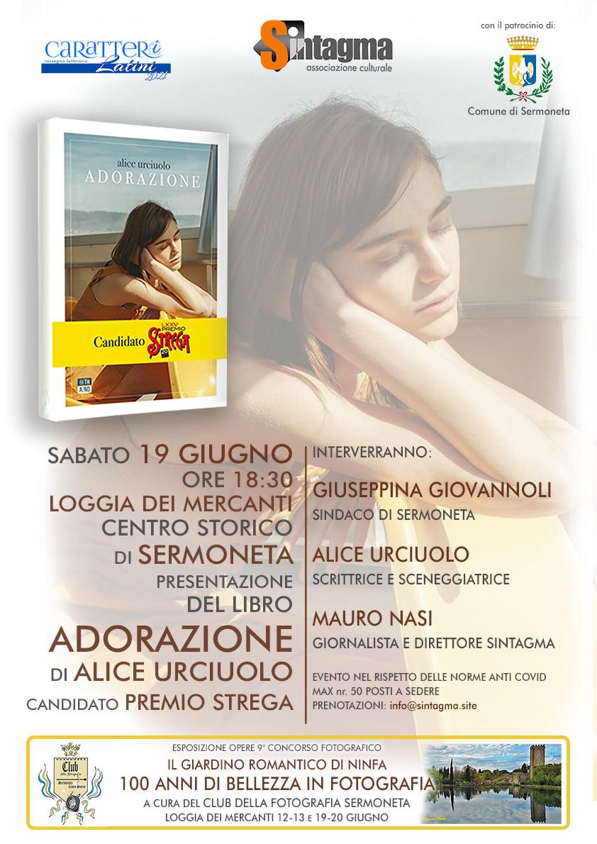 Sermoneta: Presentazione del libro Adorazione di Alice Urciuolo @ Sermoneta