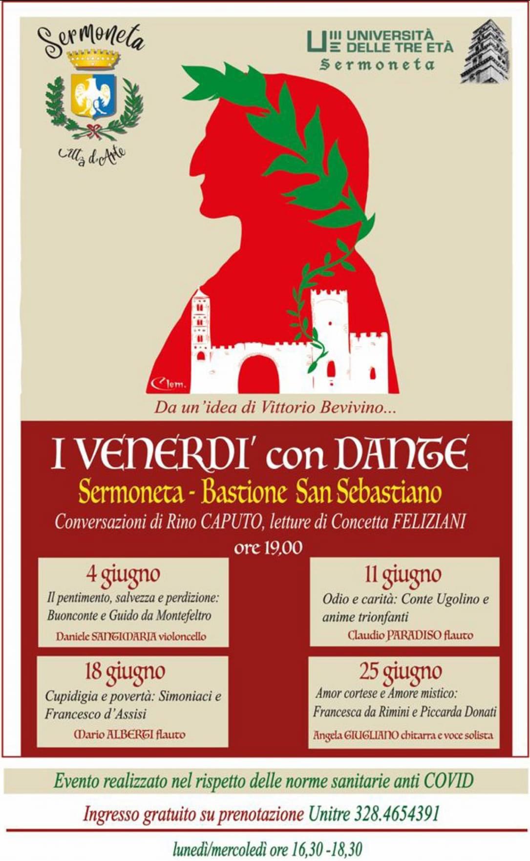 Sermoneta: I Venerdì con Dante @ Sermoneta - Bastione San Sebastiano
