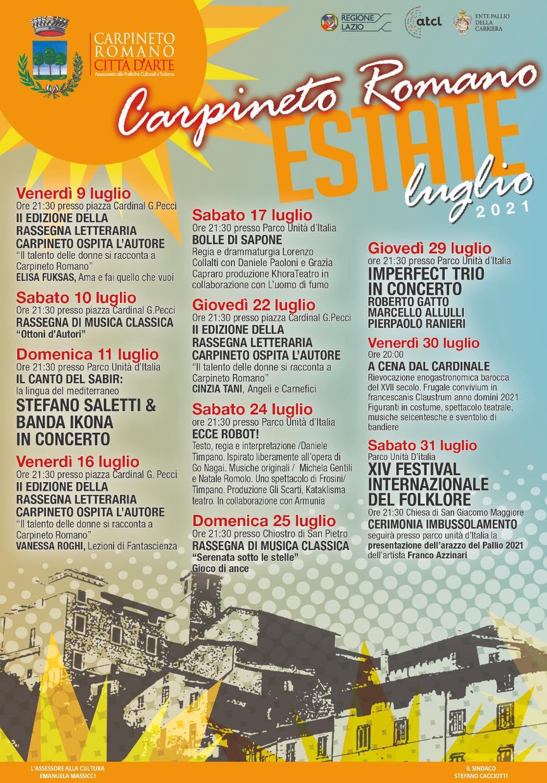 Carpineto Romano Estate: Luglio 2021 @ Piazza Cardinal G. Pecci