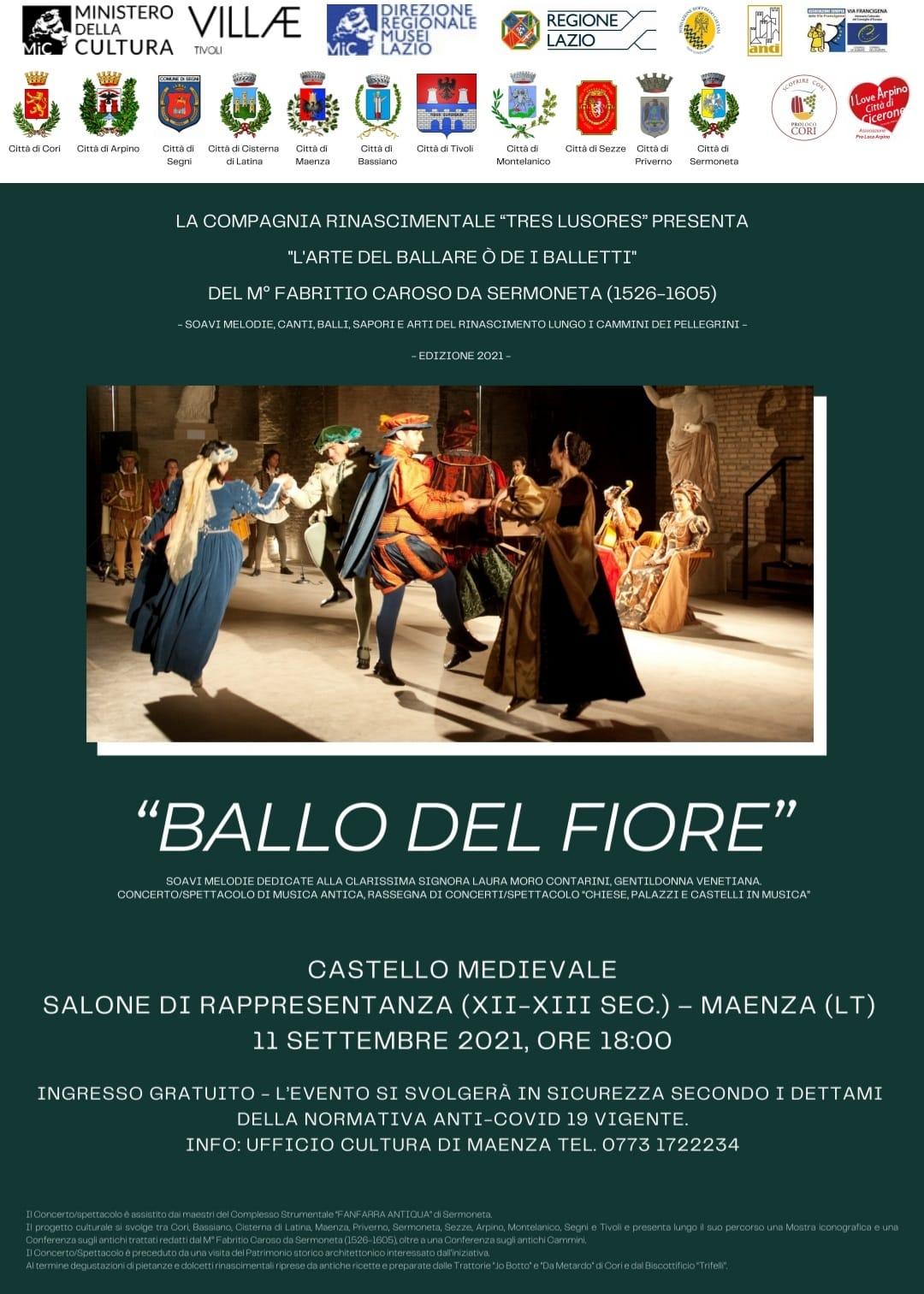 """Maenza: """"Ballo del fiore"""" @ Castello Medievale di Maenza"""