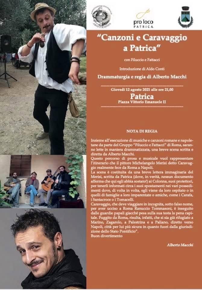 Patrica: Canzoni e Caravaggio @ Patrica